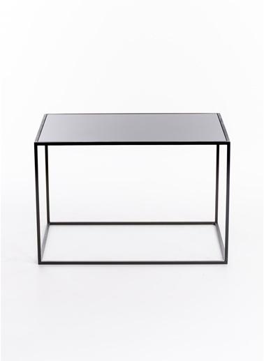 Maxmillen Minimalist Tasarım  Metal Orta  Sehpa 60 X 40 X 40 Siyah Renkli